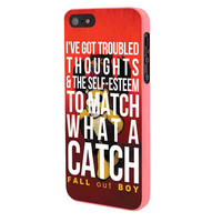 Fall Out Boy Watch A Catch Quote iPhone 5 Case Framed Pink