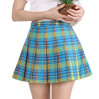 Blue Green & Yellow Tartan Skirt