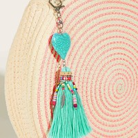 Heart & Tassel Pendant Bag Accessory
