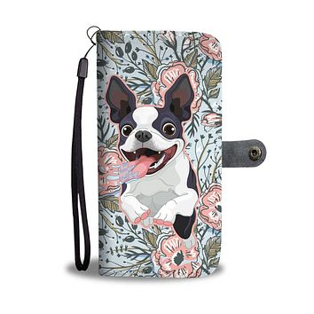 Goofy Boston Terrier Wallet Phone Case