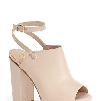 "Women's Topshop 'Sagittarius' Leather Ankle Strap Open Toe Platform Sandal, 5"" heel"
