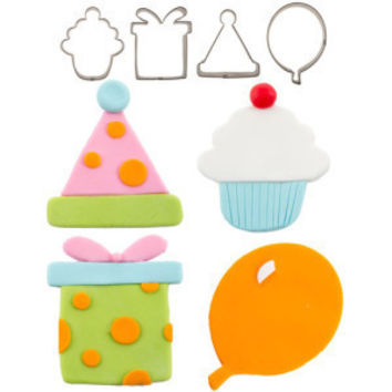 Birthday Cutie Cupcake Cutter Set