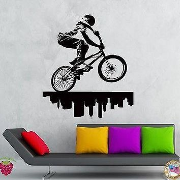 Wall Stickers Vinyl Decal City Biker Urban Decor Extreme Street Sport  Unique Gift (z2114)
