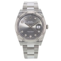 Rolex Datejust 41 126334 dkrdo Diamond Dial Steel & 18K White Gold Watch