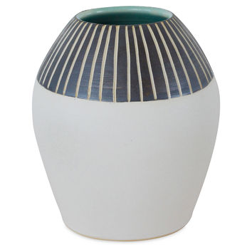 Stripe Bud Vase, White/Black, Other Lifestyle Accessories