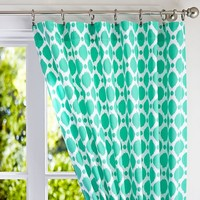 Coastal Ikat Dot Drape