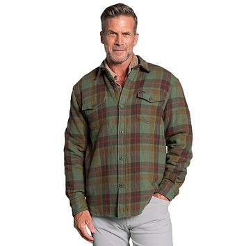 Summit Shirt Jacket with Sherpa Lining in Olive by True Grit