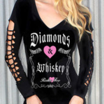 Diamonds & Whiskey Long Sleeve