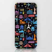 LET'S TRAVEL AROUND THE WORLD!!! iPhone & iPod Case by hardkitty