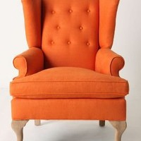 Howell Wingback, Linen - Anthropologie.com