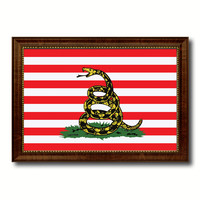 Revolution Split Up New Sprint Military Flag Canvas Print with Brown Picture Frame Home Decor Wall Art Gift Ideas