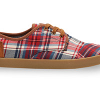 Red and Blue Plaid Men's Paseos US