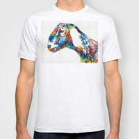 Colorful Goat Art By Sharon Cummings T-shirt by Sharon Cummings