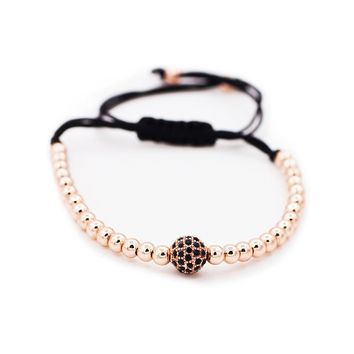 Sundear Stainless Steel Beads Bracelet Adjustable Macrame Bracelet
