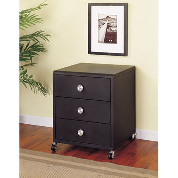 Powell  354-303 Z-Bedroom Mobile Three-Drawer Chest
