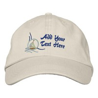 Nautical Sailboat Personalized Embroidery Embroidered Baseball Cap