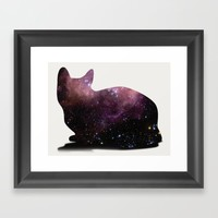 Willow the Galaxy Cat! Framed Art Print by All Is One