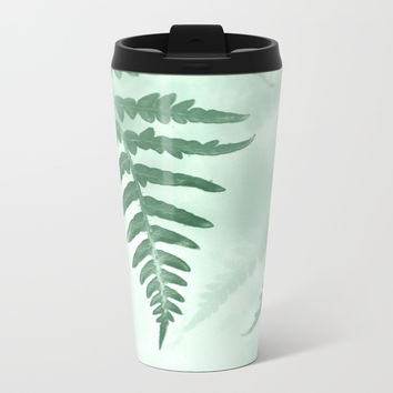 fern Metal Travel Mug by ARTbyJWP