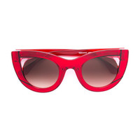 Thierry Lasry Cat-Eye Sunglasses - Red Acetate Glass Sunglasses