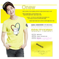 SHINEE member onew SHW SAME TYPE T-SHIRT TEE KPOP NEW