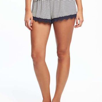 Lace-Trim Sleep Shorts for Women | Old Navy