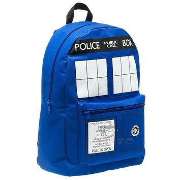Deadpool Dead pool Taco   Doctor Who Tardis cartoon student school bag work bags men Police Box Backpacks for gift AT_70_6