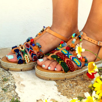 "Friendships  Boho Sandals, summer shoes, ""Artemida""  Handmade Sandals, Greek Sandals, hippie lsandals, Bohemian sandals"