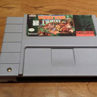 Donkey Kong country Super Nintendo snes video game console system