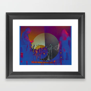 Blues time Framed Art Print by MarlonStyle