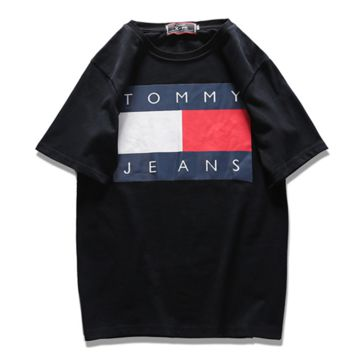 TOMMY JEANS HOT SHORT SLEEVE T-SHIRT TOP BLACK