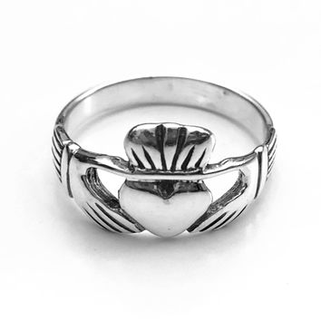 Claddagh Heart Ring, Claddagh Ring, Celtic Ring, Sterling Silver Celtic Ring, Celtic Jewelry, Celtic Design, Celtic Knot Ring