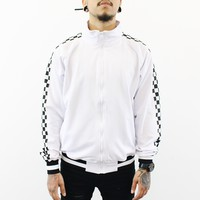 Cole Checkered Track Jacket (White)