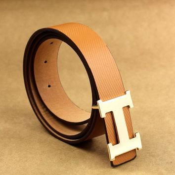 Hermes Multicolor Women Men Belt B104466-1 Seven Color Belt Brown
