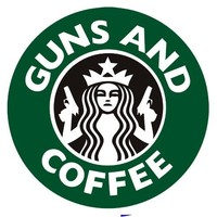 Guns and Coffee Bumper Sticker