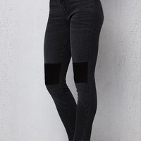 PacSun Cover Black Patchwork High Rise Jeggings at PacSun.com