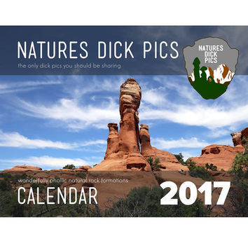 2017 Natures Dick Pics Funny Wall Calendar | Funny Man Gift | Bachelorette Party Gift | Nature Funny Gift | Sexy Gift | SHIPS FREE in US