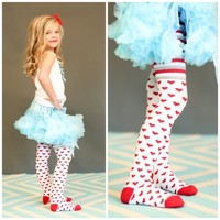 Red Heart Jeffries Sock Tights - Ryleigh Rue Clothing by MVB