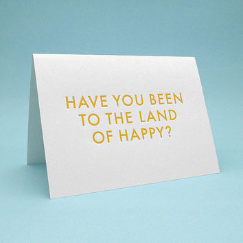 Funny Greeting Card w/ Envelope 5x7 debossed The by SignFail