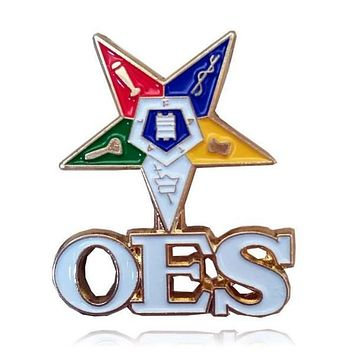 OES The Order of The Eastern Star Brooch Pin