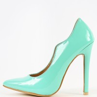 Patent Pointy Single Sole Pumps | MakeMeChic.com