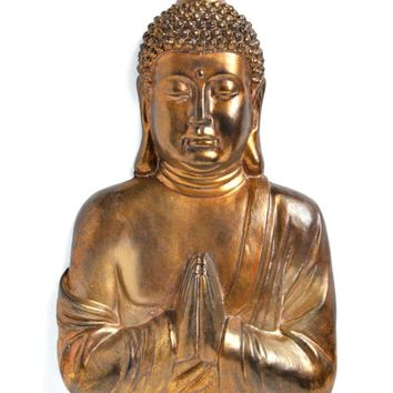 Large Gold Buddha Wall Art Sculpture