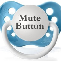Mute Button Pacifier (Baby Blue)