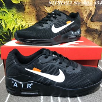 auguu Nike Air Max Guile Off White Tavas Knitted Running Shoes Black