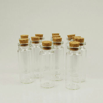 Mini Corked Jars Tube Bottle Favors, 12-pack, 2-1/2-inch