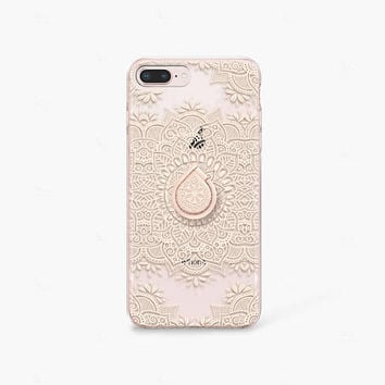 Mandala iPhone 7 Case Clear iPhone 8 Case Clear iPhone 7 Plus Clear Case Gift for Her iPhone X Case Samsung Galaxy S8 Case Samsung S9 Case