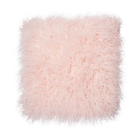 Home Collection Pink faux fur cushion