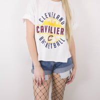 Vintage Cleveland Cavaliers Basketball Cropped T Shirt