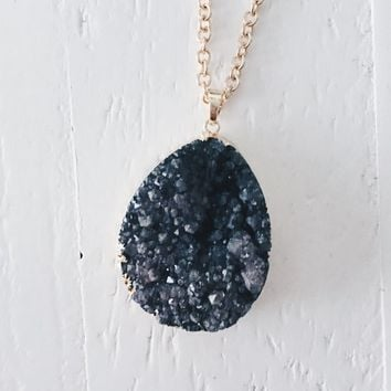 Asura Black Quartz Cluster Necklace
