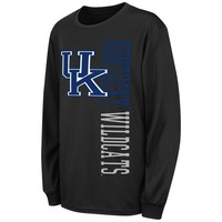 Kentucky Wildcats Youth Throwback Long Sleeve T-Shirt - Black