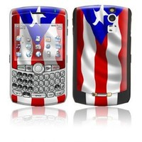 Puerto Rican Flag Design Protective Skin Decal Sticker for Blackberry Curve 8300/ 8310/ 8320 Cell Phones